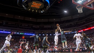Huskers Down Fighting Hawks behind Copeland's Red-Hot Shooting