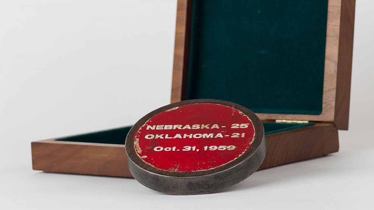 Husker Attic: 1959 Nebraska-Oklahoma Goal Post Paperweight ...