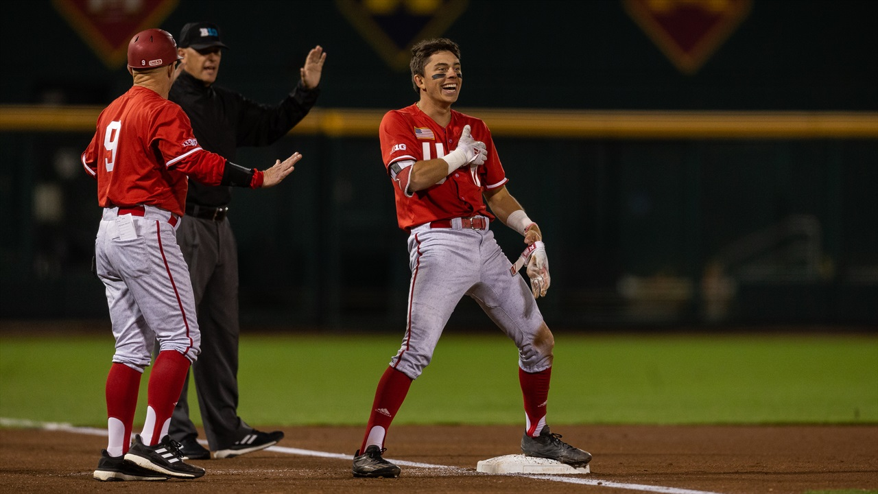 Huskers Advance With 8-2 Win Over Defending Champion Minnesota